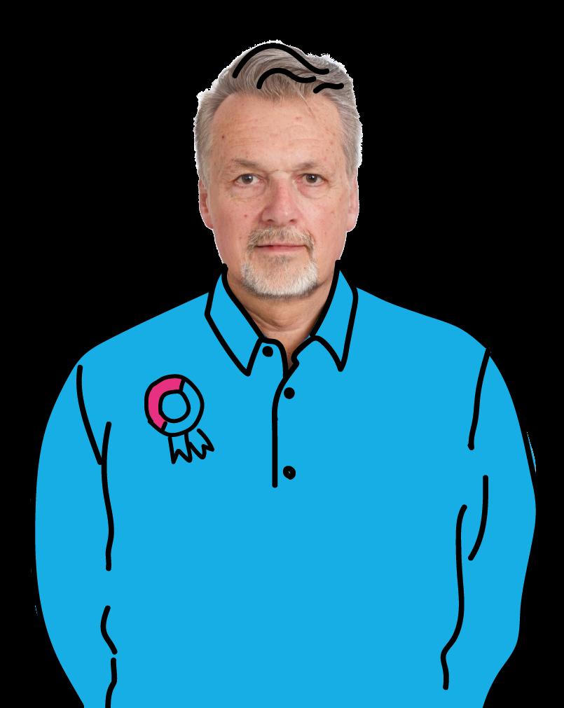 Portret van Luuk als pensionado die door wil werken. Doorwerken na je pensioen, net als Luuk, open bijvoorbeeld je eigen zaak, als ondernemer of zzp'er, blog, BrightPensioen